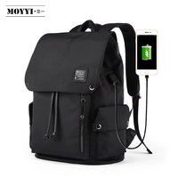 MOYYI men's waterproof student school bag travel laptop backpack male