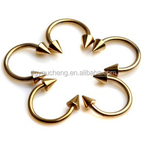 316LStainless Steel Gold Plated Circular Barbell Body Piercing