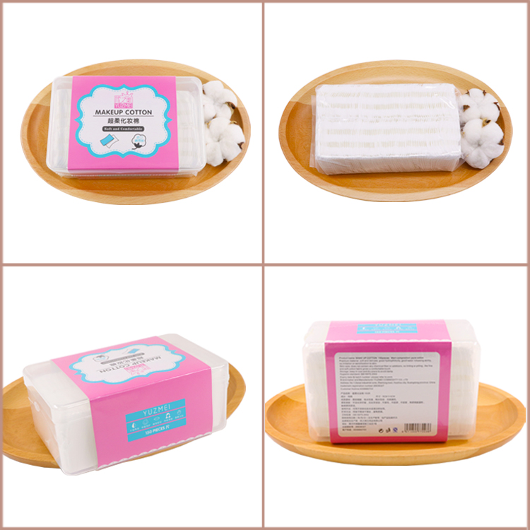 Popular Lady Make Up Cotton Pad Panties 5x6cm Cosmetic Organic Cotton Pad Square Makeup Remover Wipes Pads