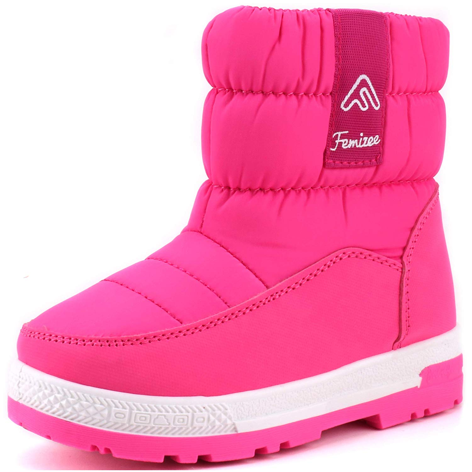 Kvbaby Girls Ankle Snow Boots Winter Warm Outdoor Waterproof Flat Booties Fur Lined Shoes Size