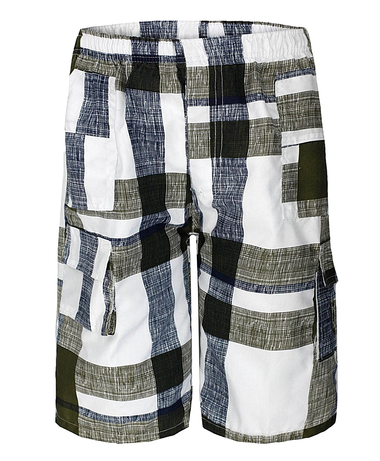 Boys Camouflage Cotton Blend Shorts Multipocket /¾ Length Combat Kids Age 3-14 Years