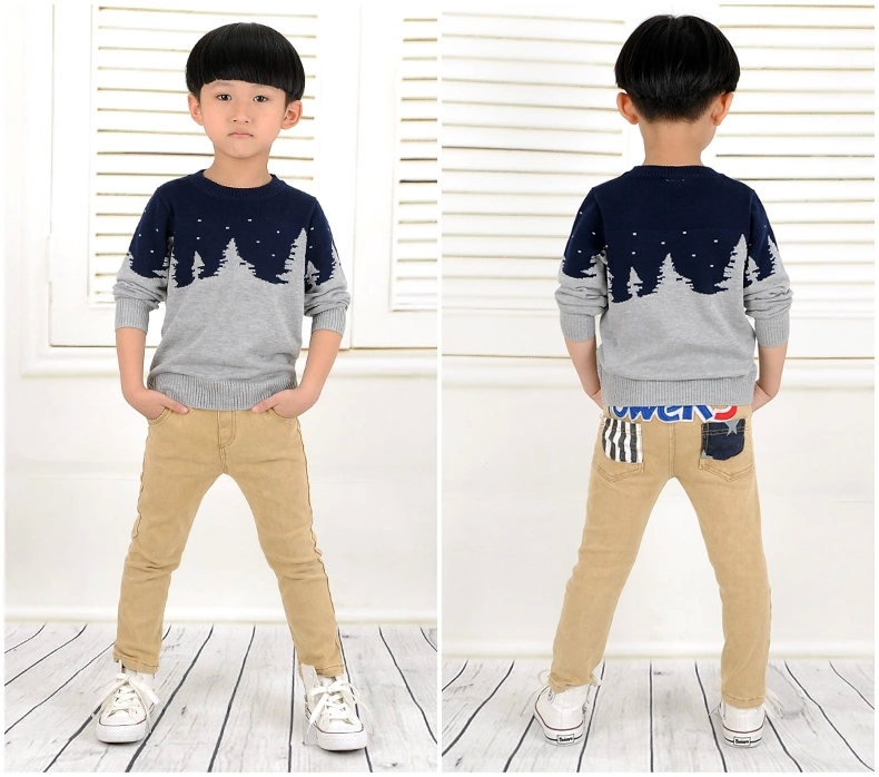 2014 Children sweater brand Classic Wool Long-sleeve basic sweater boys kids thick warm pullovers autumn winter jerseis de ninos