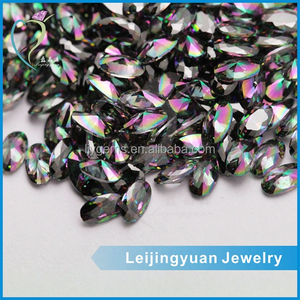 Wholesale oval cut loose multicolor synthetic stones cubic zirconia price
