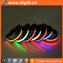 Waterproof led flashing dog collar , LED glowing in the dark pet chain