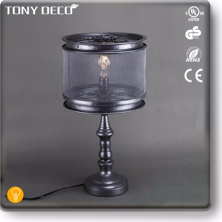 Vintage industrial iron table lamp light fixture under 50 for Table lamps under 50