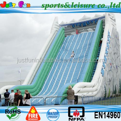 Inflatable Everest Slide: Más Grande Del Mundo Everest Tobogán Inflable Para Adultos