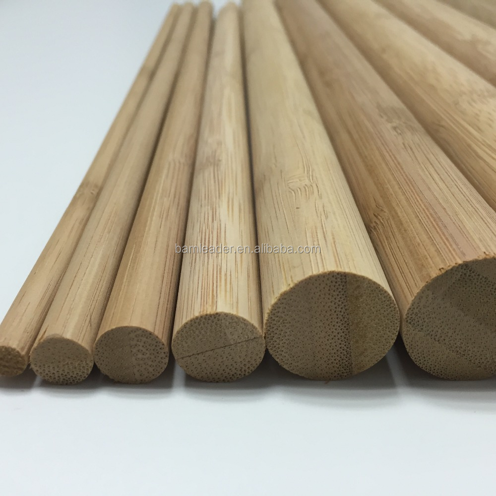 Factory Direct Sale Bamboo Raw Material Round Bamboo Stick For Fence Stick
