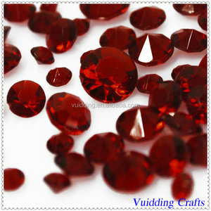 Beautiful Ruby Plastic Gems Confetti For Party Table Decoration