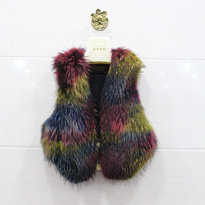 cc145c35ff6 Get Quotations · 2015 new real full pelt raccoon dog fur vest gilet for  women wholesale winter waistcoat