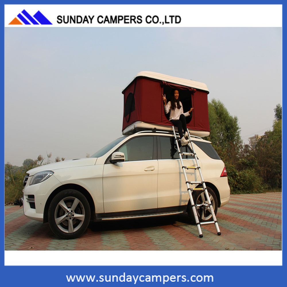 4x4 offroad aluminum pop up camper hard shell roof top tent car