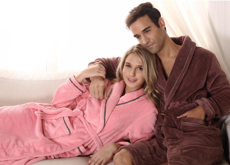 Super Soft And Warm Women Beautiful Micro Fleece Robe,Microfiber ...