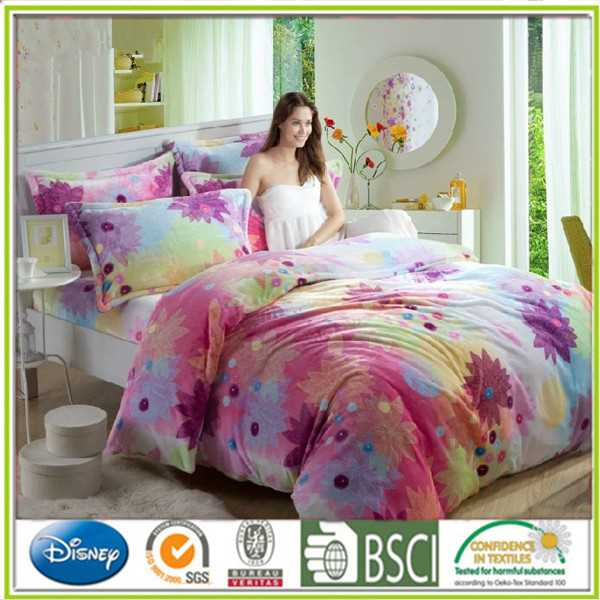 Printed Flannel bedding set flano bed suite bedding package emboridery life comfort sheet set