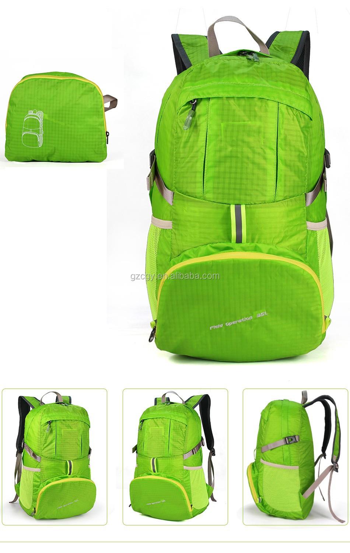 665e7e8cacb4 Aurora Guangzhou Custom outdoor hiking trekking waterproof foldable backpack