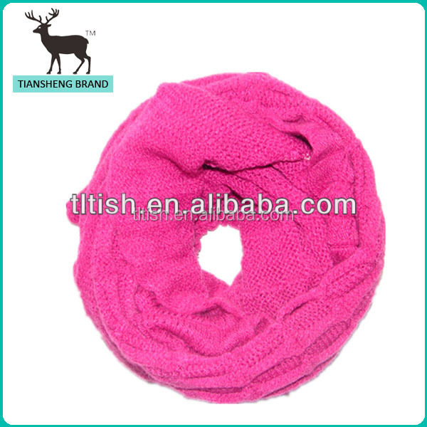 fashion young ladies' favorite pink scarf