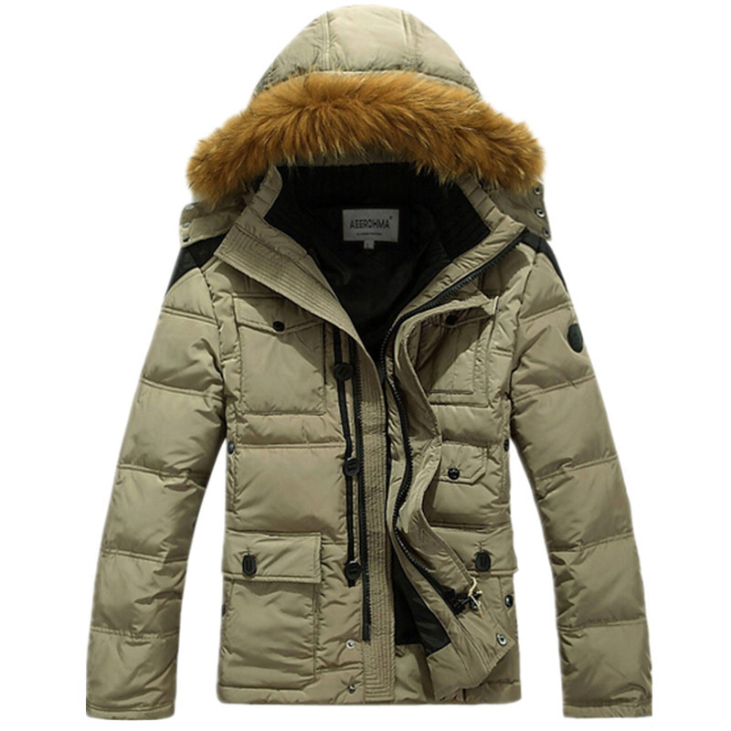 2015 Mens Parka Jacket Cheap Thick Warm Duck Down Winter