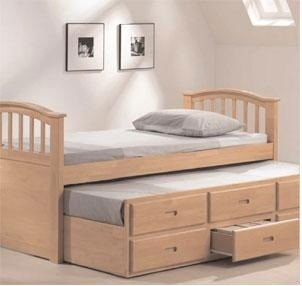 Functional Bed: Day Bed, Drawers, Pull out bed in One