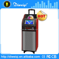 Succinct outdoor party trolley audio pro stage speaker with disco ball light