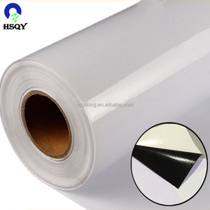 China bus sticker supplier 90 microns black glue