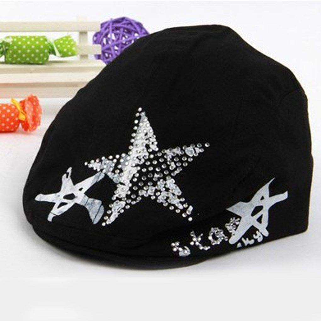 67d0a0aa321 Get Quotations · Harmily Cute Baby Girls Boys Berets Tide Berets Cap  Baseball Cap Cotton Hat