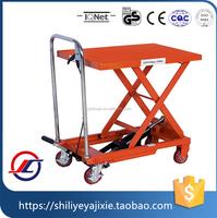 Low hydraulic scissor goods lift table/mini scissor lift platform