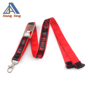 Hot sell satin lanyard with bottle opener