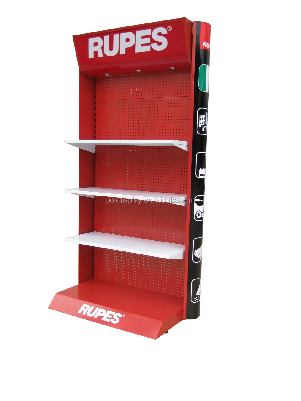 Exhibition Stands Product : Power tools wall display stand floor metal racks