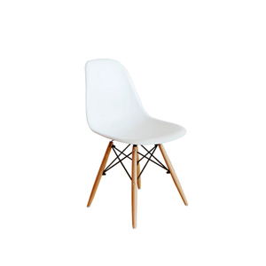 Factory Price restaurant metal dining chair white plastic