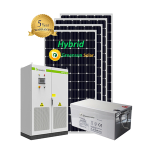 solar energy 50kw 60kw 70kw hybrid solar system 50kw 60kw 70kw battery storage power system factory use