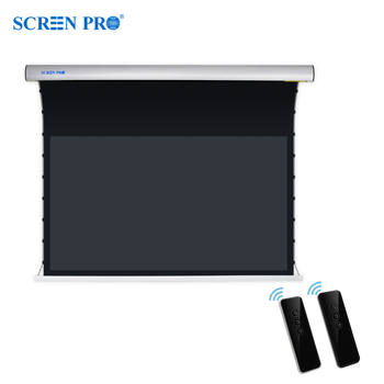 "Screen Pro Tab tensioned motorized Screen 16:9 format 100"" home theatre screen"