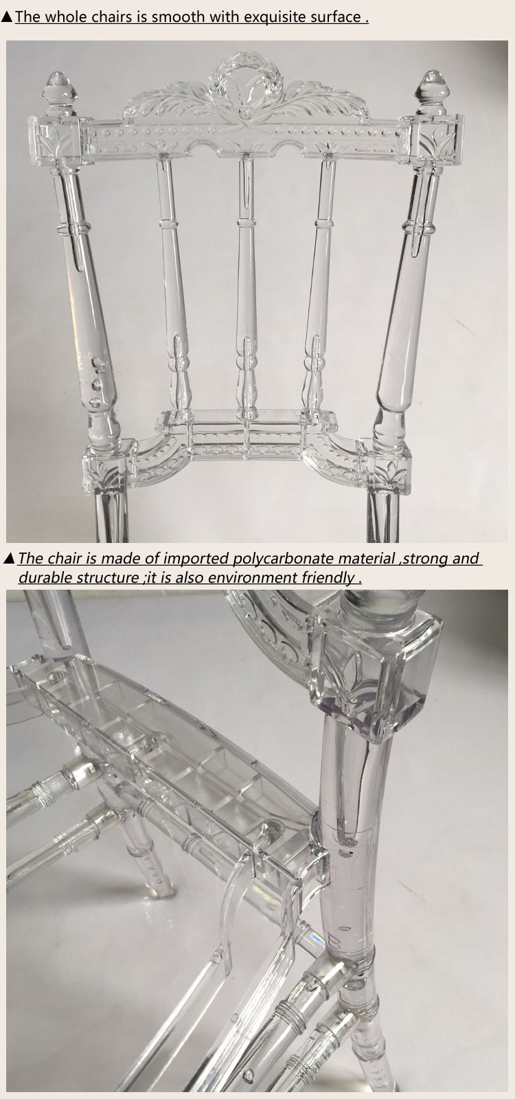 Factory Wholesale New Design Stackable Clear Acrylic