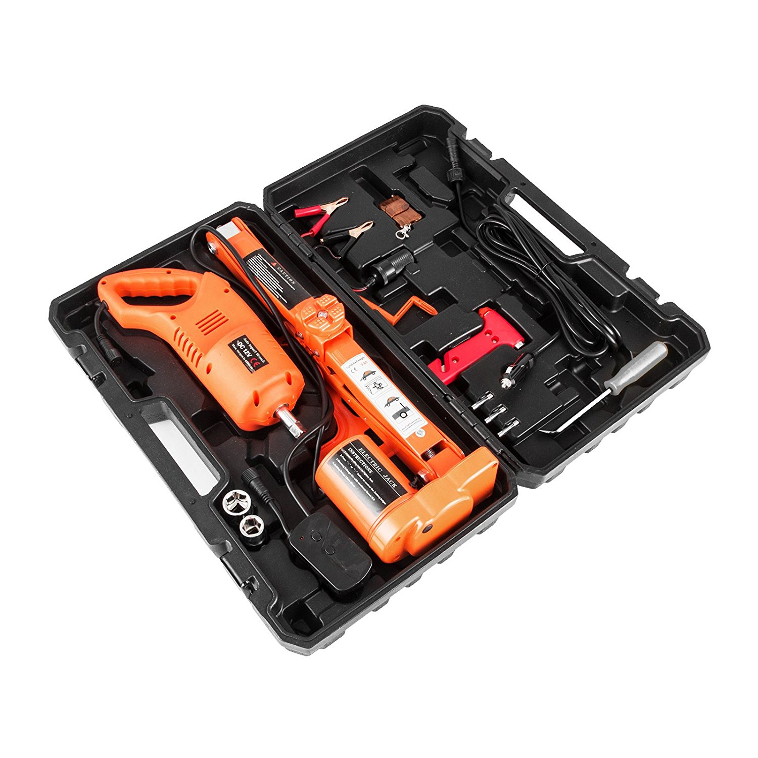 BestEquip Electric Car Jack 3 Ton 6600 LB Electric Scissor Jack 12V DC with Electric Impact Wrench Car Repair Tool for Sedans and Trucks
