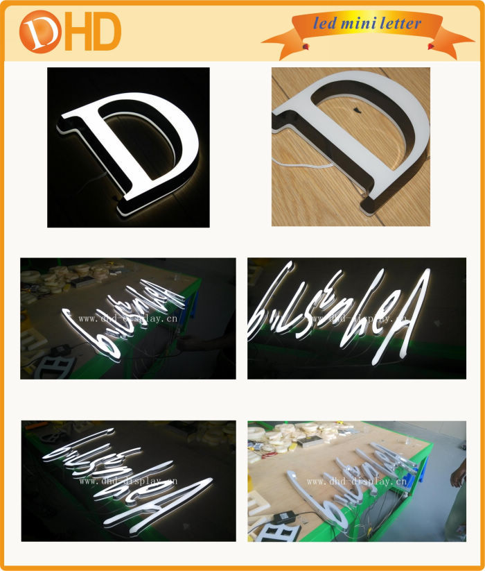 New Design Face Light Up Led Advertising Sign Letters,Acrylic ...