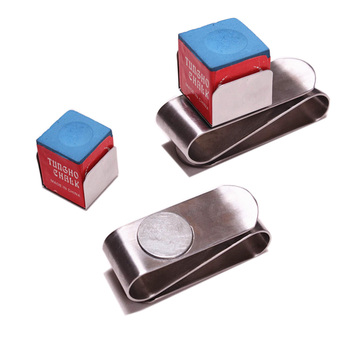 High Quality Portable Mini Magnetic Stainless Steel Chalk Holder Belt Clip China Professional Billiard Factory