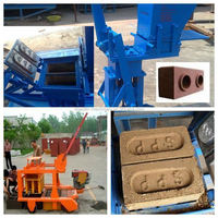 Easy operating manual block machine for eco clay soil blocks with best price