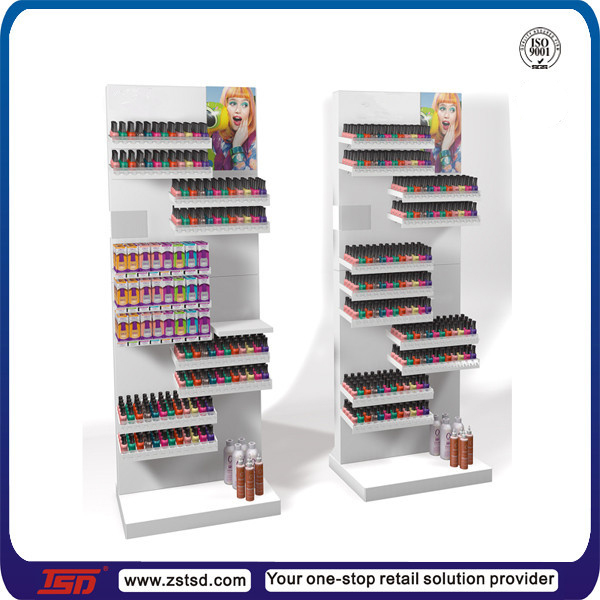 Tsd W591 Custom Cosmetci Mdf Wooden Floor Standing Essie And Opi Nail Polish Display