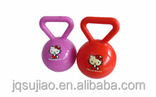 Handbell Ball/ PVC Ball for Baby/4' handle ball with bell, baby toys