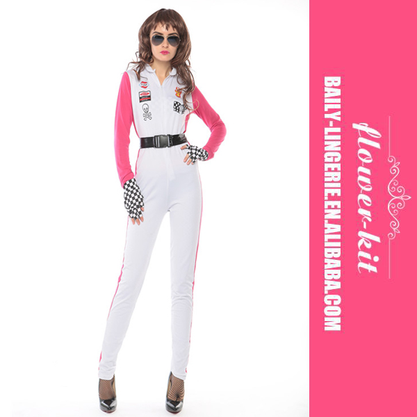 Fancy dress for women long sleeve jumpsuits cosplay costume with belt