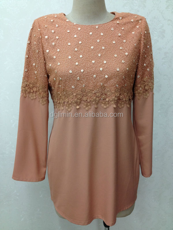 lace design baju kurti top modern modest blouse