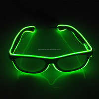 New 10 Colors Choice EL Wire Glow Sun Glasses Neon Led DJ Bright Light Safety Light Up Multicolor Lighting For Party Decoration