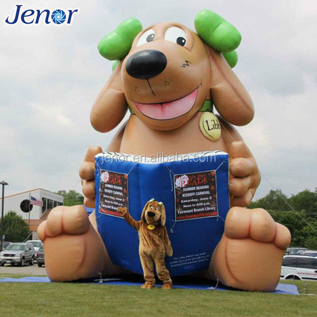 Customized Giant Inflatable Dog Cartoon Character in Outdoor Decoration