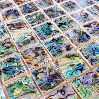 Green Abalone Mother Of Pearl Shell Mosaic Tile