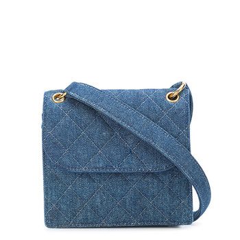 Versse Mini Sling Denim Half Flap Shoulder Bag Women Jean Bags Handmade