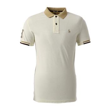 Высокое качество Мода эластичный Однотонная рубашка-поло для мужчин хлопок  спандекс Обычная тенниска длинный планка 4f5ee9baa5b65