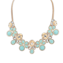 Artifical 2014 jewelry trends made in vietnam resin bead landing handmade crystal necklace PN1289