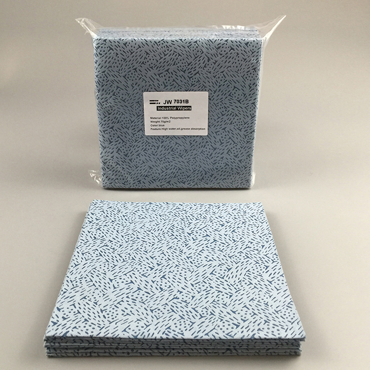 Super September Blue Oil Degreasing Nonwoven Meltblown 100% PP Cleaning Wipes