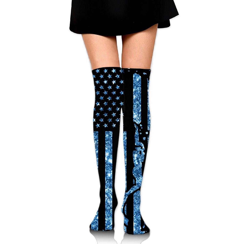 71f0ab284 Get Quotations · American Flag Scuba Diving Unisex Over Knee High Socks  Extra Long Athletic Sport Tube Socks