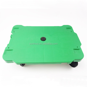 Wholesale best prices platform dolly trolley / plastic heavy duty trolley dolly
