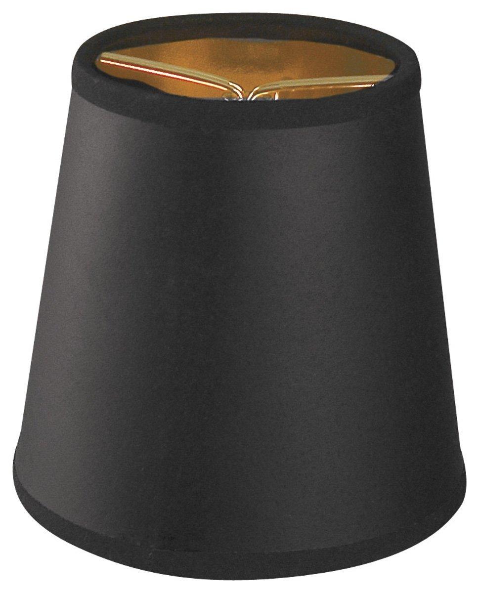 Royal Designs CS-115BLK/GL Black Empire Chandelier Lamp Shade, Black