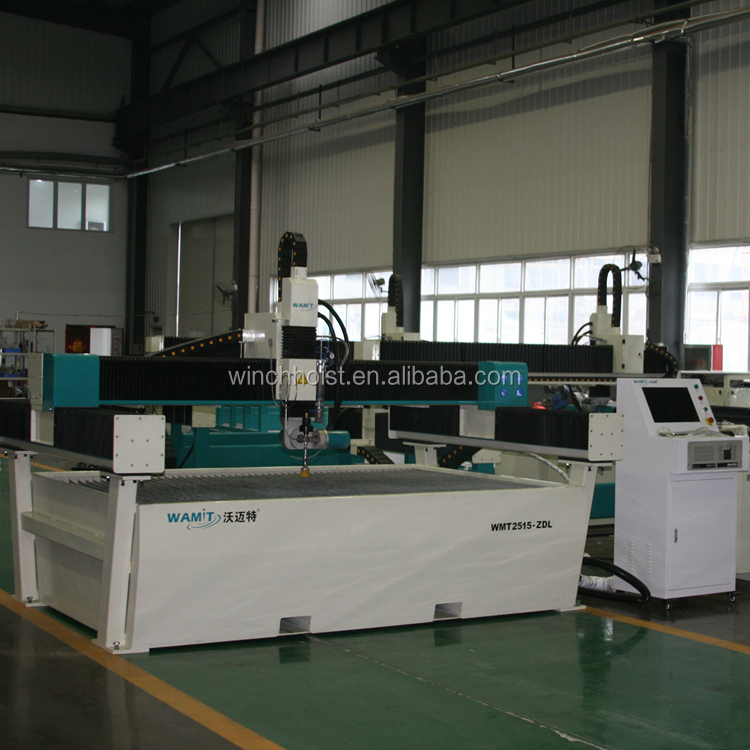 1500*2500mm cutting size oversea <strong>service</strong> provided 420mpa high pressure 150mm carbon steel small CNC water jet cutting machine
