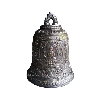 Temple Garden ornaments brass church bell for sale